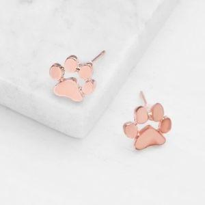 Pawprint earrings